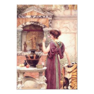 Classic Fine Art Woman 13 Cm X 18 Cm Invitation Card