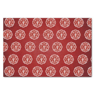 Classic Fire Fighter Symbol Pattern Red Tissue Paper