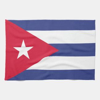 Classic Flag of Cuba Tea Towels