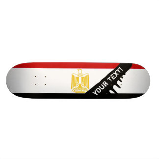 Classic Flag of Egypt 19.7 Cm Skateboard Deck