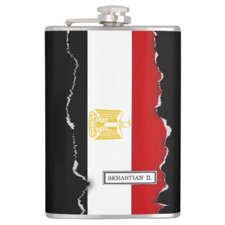 Classic Flag of Egypt Flask