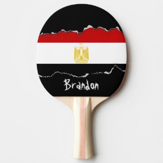 Classic Flag of Egypt Reverse Print Ping Pong Paddle