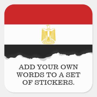 Classic Flag of Egypt Square Sticker
