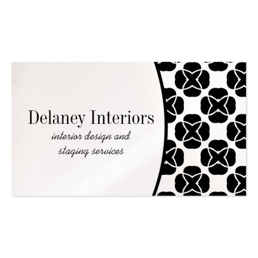 Classic Flair Business Card, Black and White