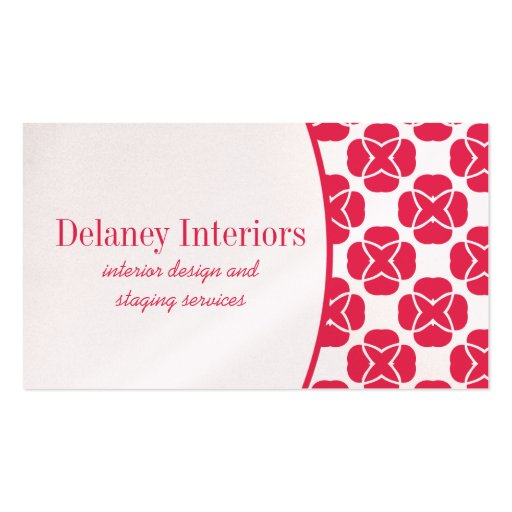 Classic Flair Business Card, Hot Pink