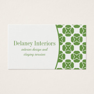 Classic Flair Business Card, Kelly Green