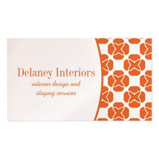 Classic Flair Business Card, Orange