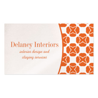 Classic Flair Business Card, Orange Pack Of Standard Business Cards