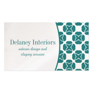 Classic Flair Business Card, Teal Pack Of Standard Business Cards