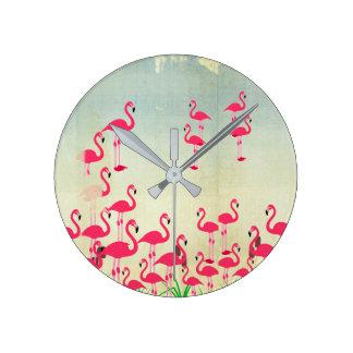 Classic Flamingo Clock