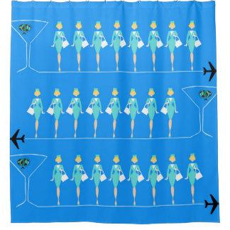 Classic Flight Attendant Shower Curtain