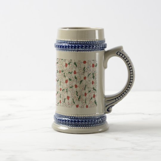 Classic Floral Pattern Beer Stein