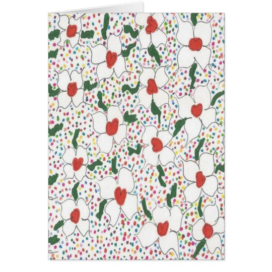 Classic Floral Pattern Card