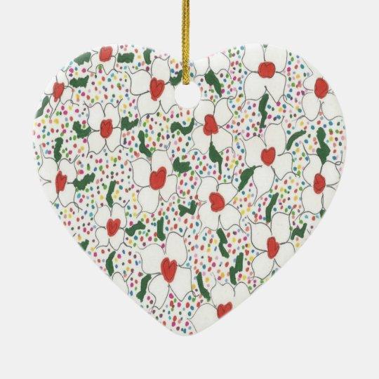 Classic Floral Pattern Ceramic Ornament