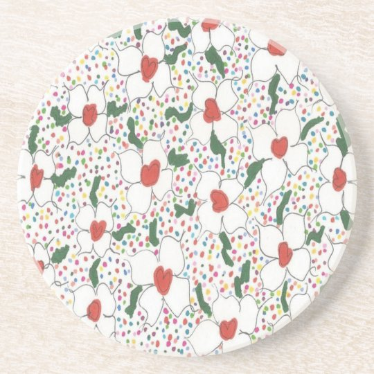 Classic Floral Pattern Coaster