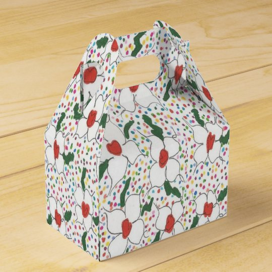 Classic Floral Pattern Favour Box