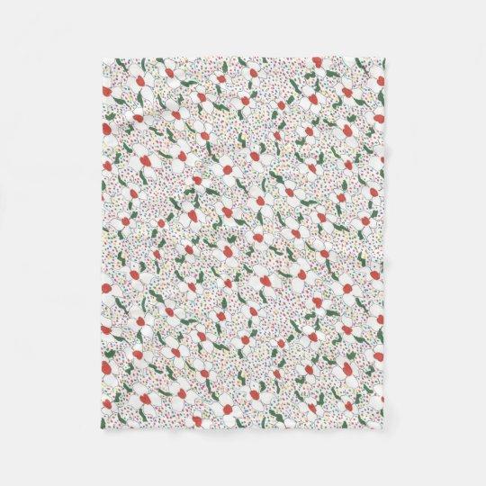Classic Floral Pattern Fleece Blanket