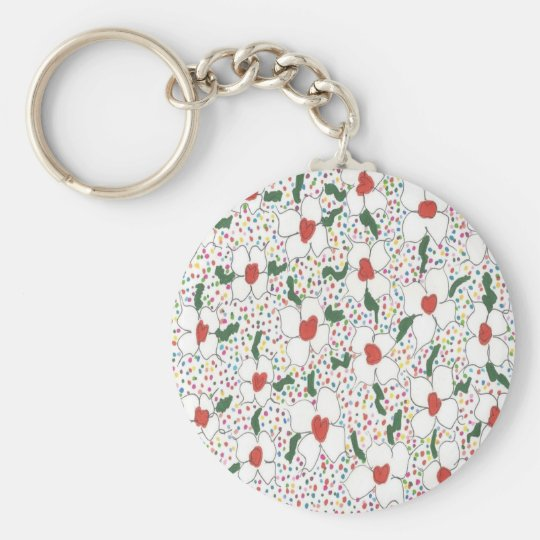 Classic Floral Pattern Key Ring