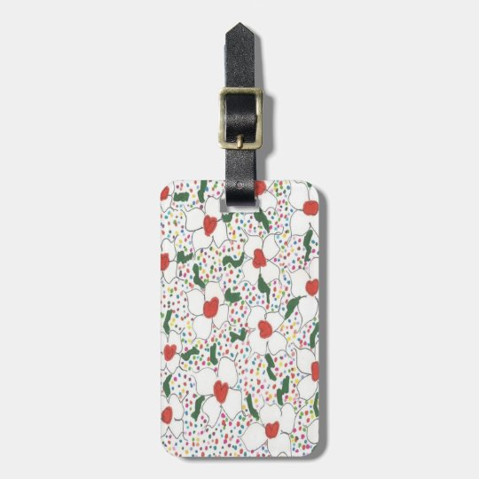 Classic Floral Pattern Luggage Tag