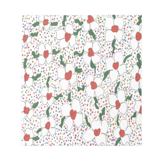 Classic Floral Pattern Notepad