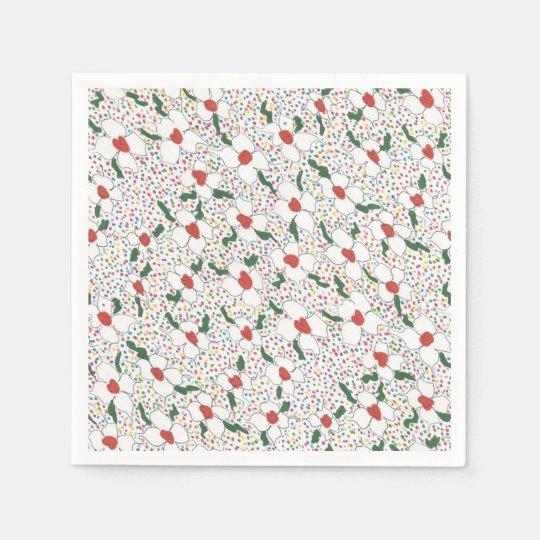 Classic Floral Pattern Paper Napkins