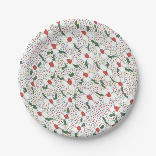 Classic Floral Pattern Paper Plate
