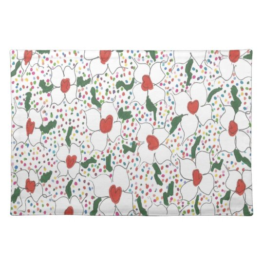 Classic Floral Pattern Placemat