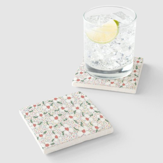 Classic Floral Pattern Stone Coaster