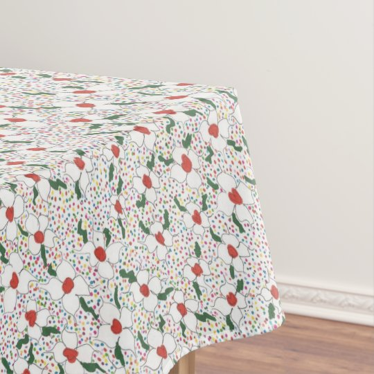 Classic Floral Pattern Tablecloth