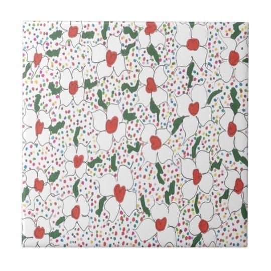 Classic Floral Pattern Tile