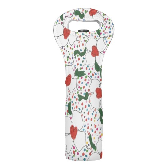 Classic Floral Pattern Wine Bag