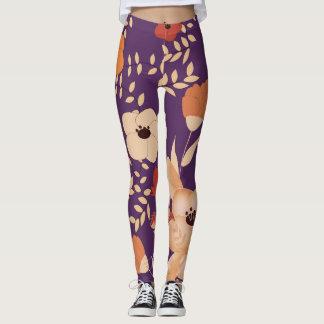 classic floral printing leggings