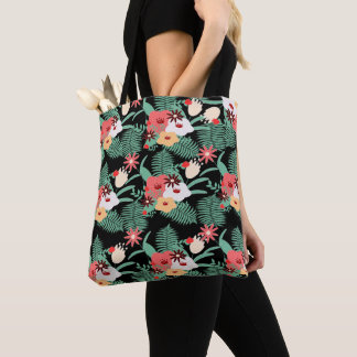 classic floral printing tote bag