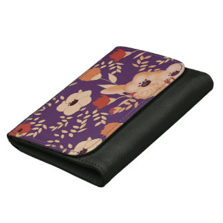 classic floral printing wallet