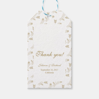 Classic Floral | Wedding Favour Gift Tags