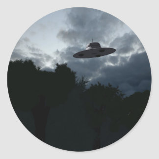Classic Flying Saucer Sticker