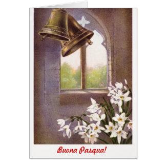 Classic formal Buona Pasqua  (Italian) Card
