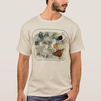 Classic Frill Barred Pigeons T-Shirt