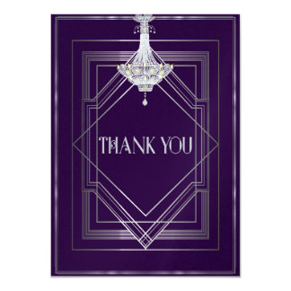 Classic Gatsby Deco Wedding ThankYou Manuela25003a Card