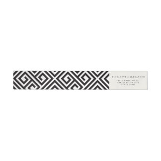 Classic Geometric Modern Wedding Wraparound Labels