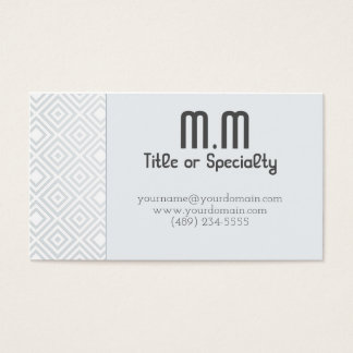 Classic Geometric soft blue Business Card