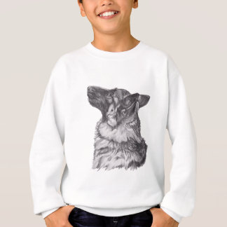 Classic German Shepherd profile Portrait Drawing Sweatshirt
