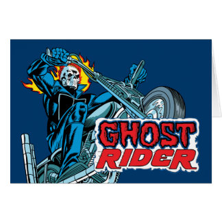 Classic Ghost Rider Riding Motorcycle Card