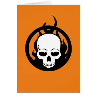 Classic Ghost Rider Skull Icon Card