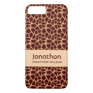 Classic Giraffe Print in Brown and Tan Custom iPhone 7 Plus Case