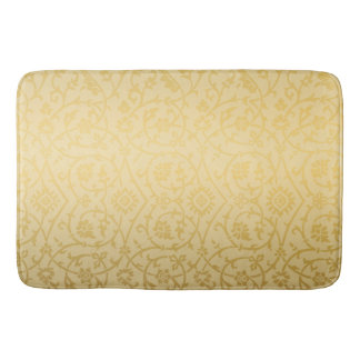 Classic Gold Damask Design Bath Mat