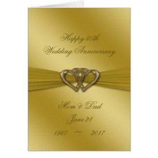 Classic Golden 50th Wedding Anniversary Card