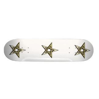 Classic Golden Pentagram Skate Deck