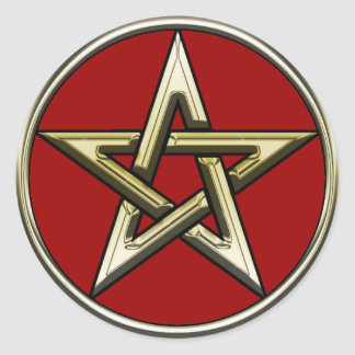 Classic Golden Pentagram Sticker