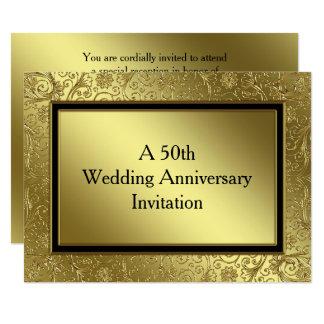 Classic Golden Wedding Anniversary 5.5x7.5 Invite